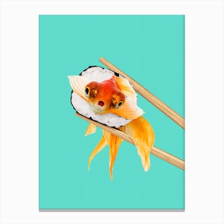 Sushi Goldfish Canvas Print