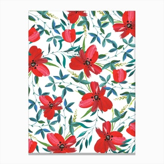 Red Blossom Canvas Print