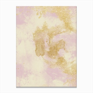 Marble Glitter Shadow Canvas Print