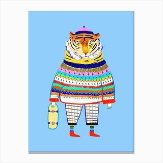 Tiger New Skater Canvas Print