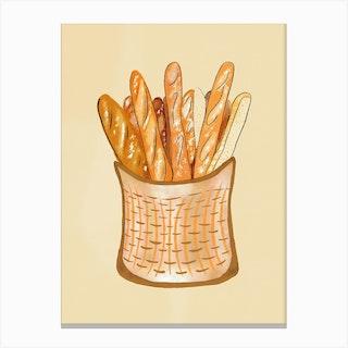 Baguette Basket 1 Canvas Print