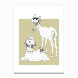 Space Deer Weird And Wonderful Canvas Print