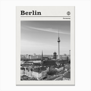 Berline Germany Black And White Canvas Print