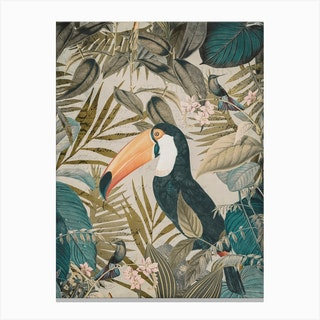 Jungle Toucan Canvas Print