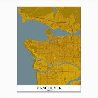 Vancouver Yellow Blue Canvas Print