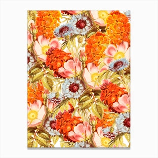 Coral Bloom In Canvas Print
