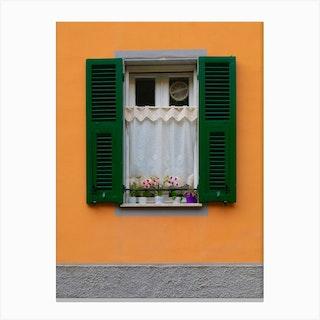 Tangerine Windowsill Canvas Print