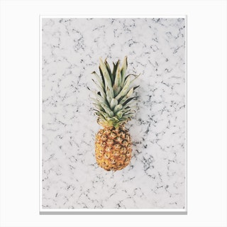 Marble Pineapple Canvas Print