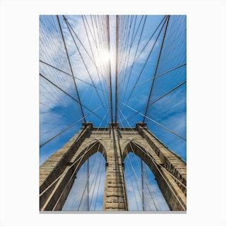 New York City Brooklyn Bridge In Detail Canvas Print