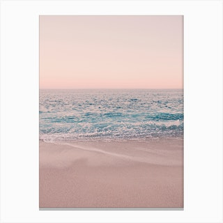 Rosegold Beach Morning in Canvas Print