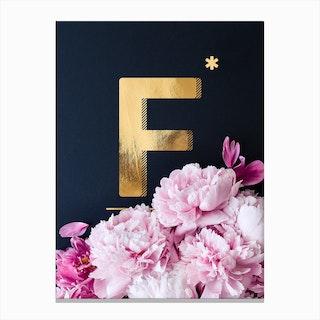 Flower Alphabet F Canvas Print