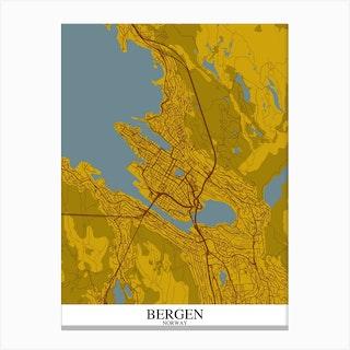Bergen Yellow Blue Canvas Print