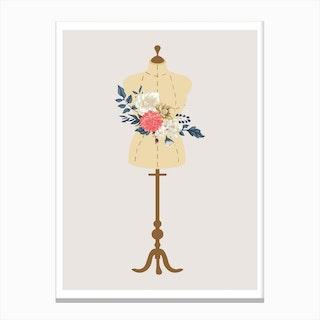 Floral Mannequin Canvas Print