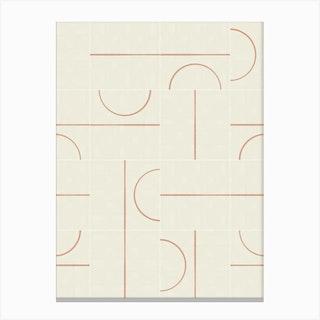 Minimal Wall Tiles 01 Canvas Print