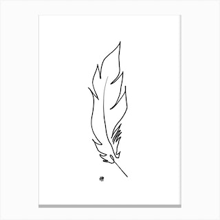 Touched By A Feather Canvas Print