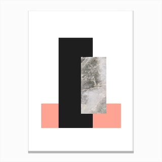 Abstract Marble Affiche Canvas Print