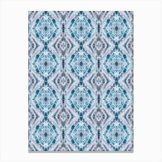 Boho Shibori Blue Canvas Print
