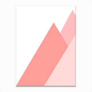 Pink Mountain Canvas Print