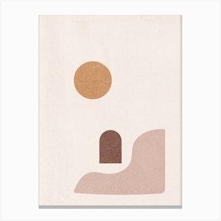 Morocco Sun Abstract Canvas Print