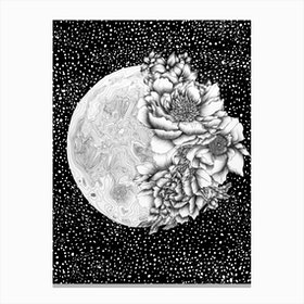 Moon Abloom Canvas Print
