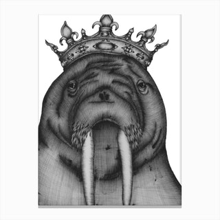 The Walrus King Canvas Print