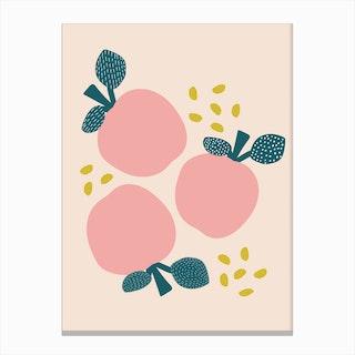 Pink Apples Canvas Print