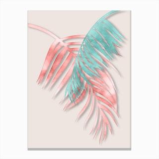 Watercolor Palm Leaves Canvas Print