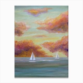 Autumn Sailing Canvas Print