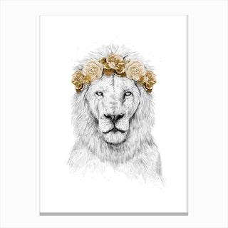 Floral Lion II Canvas Print