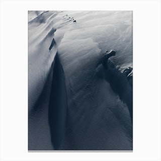 Smooth Lines Of Tundra Canvas Print