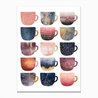 Pretty Coffee Cups 2 Canvas Print