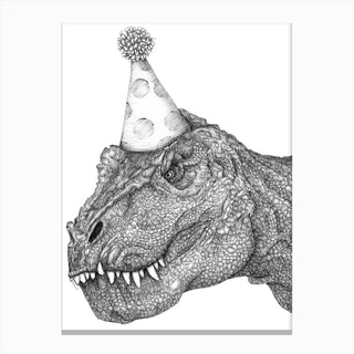 Party Dinosaur Canvas Print