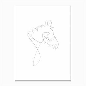 Horse Line I Canvas Print