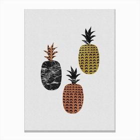Scandi Pineapples Canvas Print