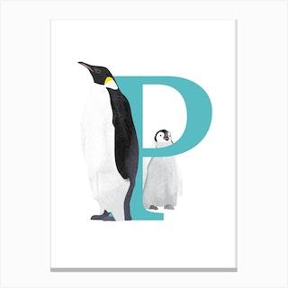P For Penguin Canvas Print