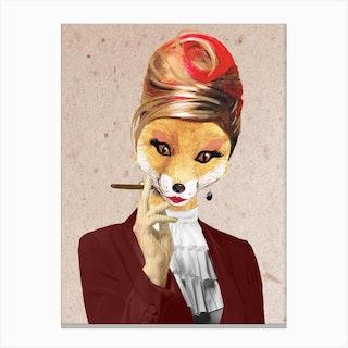 Fox Lady Canvas Print