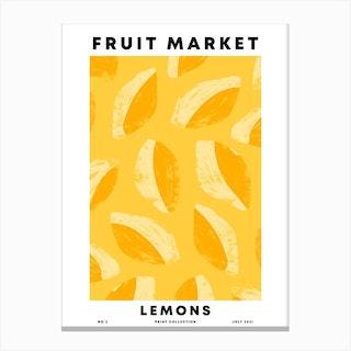 Lemons Fruit Market Canvas Print