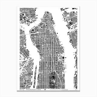 New York Black and White Canvas Print