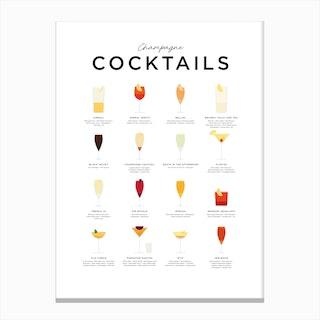 Champagne Cocktails Canvas Print