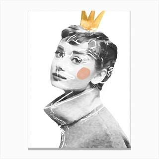 Queen Audrey Canvas Print