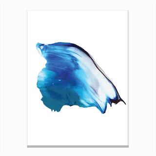 Realistic Blue Paint Stroke Canvas Print