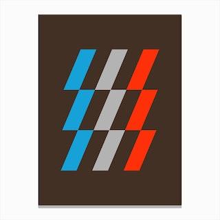 Diagonal Tech Canvas Print