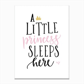 Little Princess Sleeps Here Canvas Print