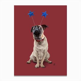 A Pug's Life (Colour) Canvas Print
