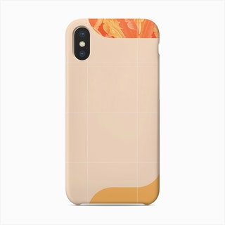 Mid Century Tropical Orange Mood Phone Case