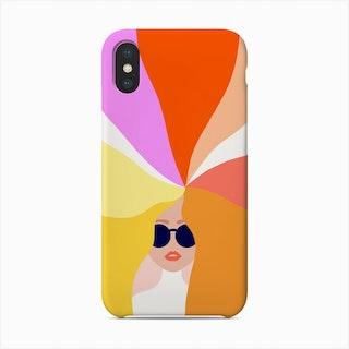 Girl Power Bright Rainbow Hair Phone Case