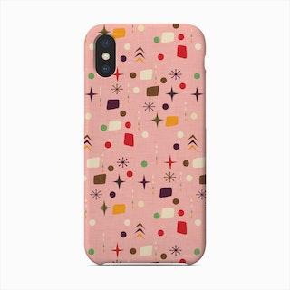 Atomic Pattern Pink Purple  Phone Case