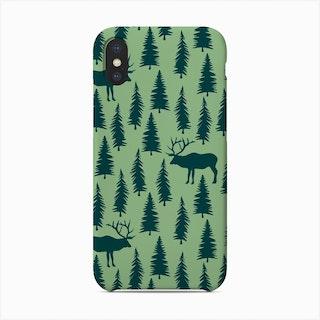 Elk In Forest (Radiant) Phone Case