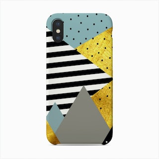Gold Abstract Green    Phone Case