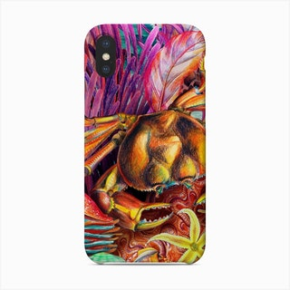 Just Keep Swimming Crab Phone Case